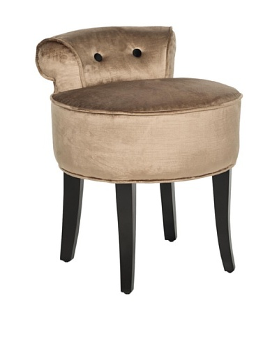 Safavieh Georgia Vanity Stool, Mink Brown