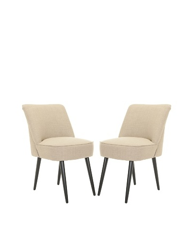 Safavieh Set of 2 Otis Dining Chairs, Beige