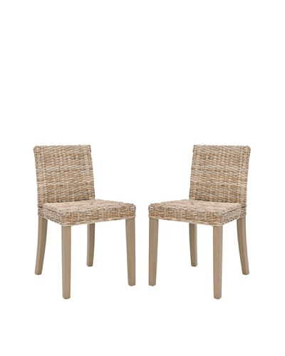 Safavieh Set of 2 Tulum Side Chairs, Grey Wash