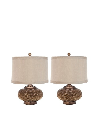 Safavieh Set of 2 Alexis Bead-Base Table Lamps, GoldAs You See