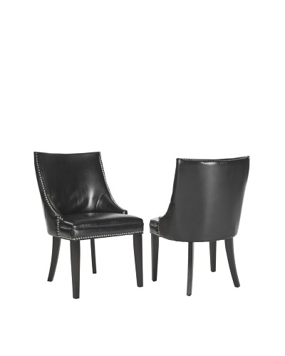 Safavieh Set of 2 Afton Side Chairs, Black