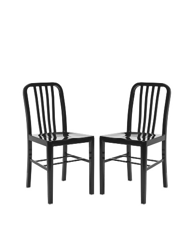 Safavieh Set of 2 Polaris Side Chairs, Black