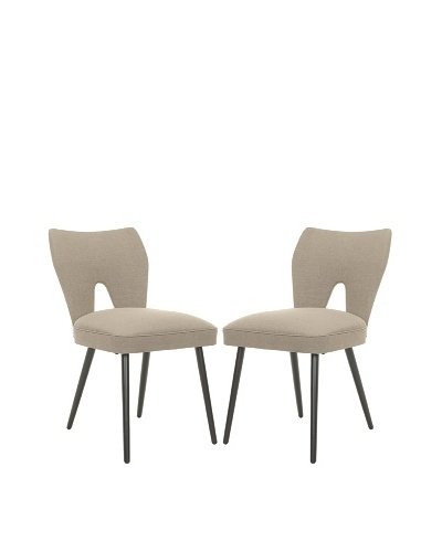 Safavieh Set of 2 Julia Dining Chairs, Olive