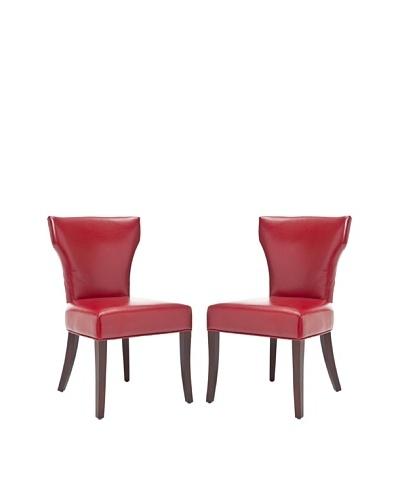 Safavieh Set of 2 Ryan Side Chairs, Red