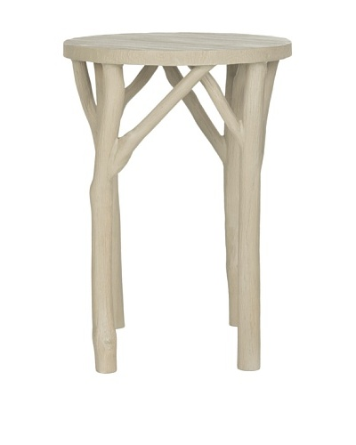 Safavieh Harper Round End Table, Pearl Taupe