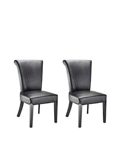 Set of 2 Kiera Side Chairs, Black