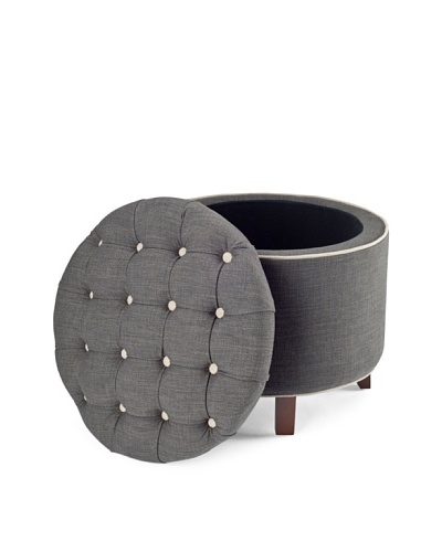 Safavieh Amelia Tufted Storage Ottoman, CharcoalAs You See
