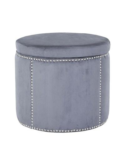 Safavieh Jody Storage Ottoman, Grey/Nickel
