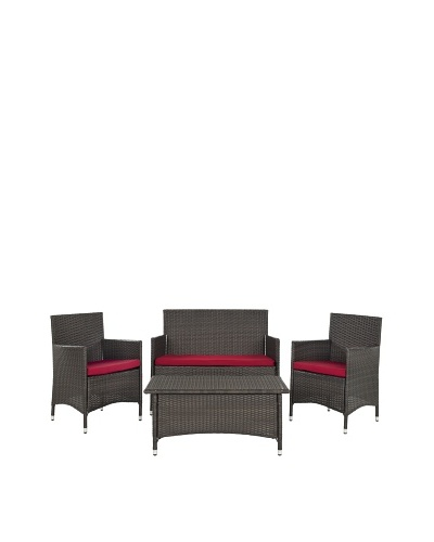 Safavieh 4-Piece Mojavi Wicker Furniture Set
