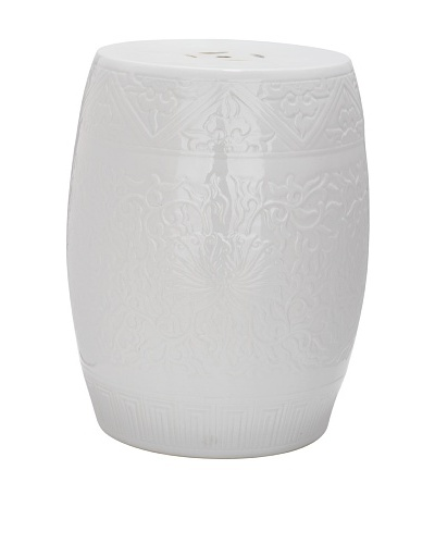 Safavieh Lotus Garden Stool, White