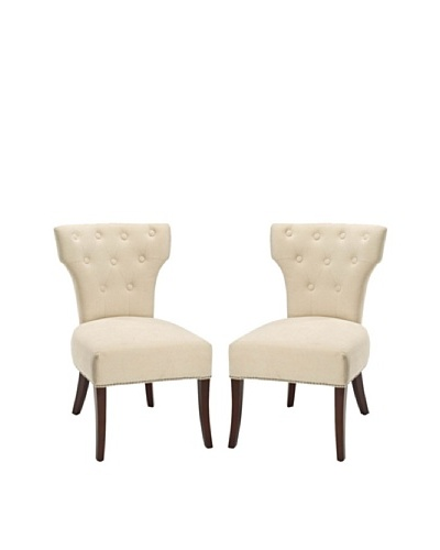 Safavieh Set of 2 Broome Side Chairs, Natural Cream