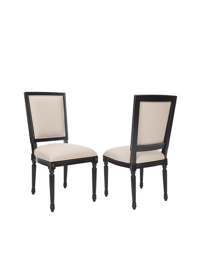 Safavieh Set of 2 Ashton Rect Side Chairs, Taupe
