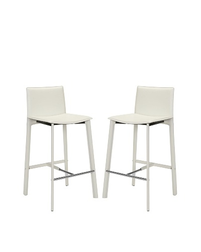 Safavieh Set of 2 Janet 30 Bar Stools, White