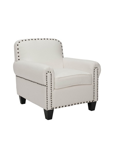 Safavieh Abigail Club Chair, White/Espresso