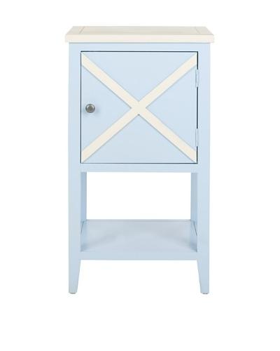 Safavieh Ward Side Table, Light Blue/White