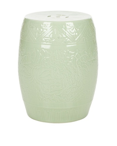 Safavieh Lotus Garden Stool, Light Green
