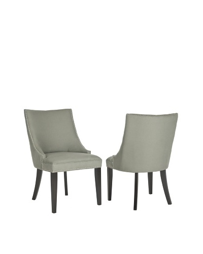 Safavieh Set of 2 Afton Side Chairs, Granite
