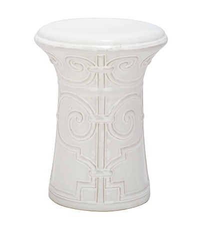 Safavieh Imperial Scroll Garden Stool, White