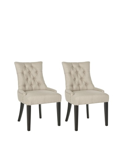 Safavieh Set of 2 Ashley Side Chairs, Antique Gold