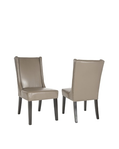 Set of 2 Sher Side Chairs, Clay