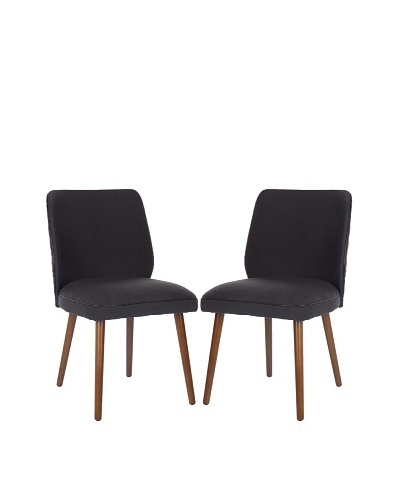 Safavieh Set of 2 Ethel Dining Chairs, Dark Taupe