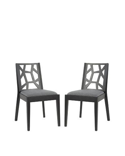 Safavieh Set of 2 Adraian Side Chairs, Grey
