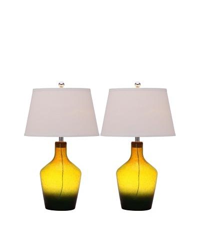 Safavieh Set of 2 Antiquaraian Glass Table Lamps