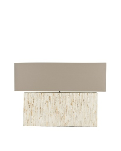Safavieh Ayers Mother of Pearl Tile Lamp, Light Brown