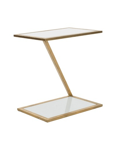 Safavieh Andrea Accent Table, Gold/White