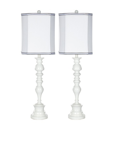Safavieh Set of 2 Polly Candlestick Lamps, Silver