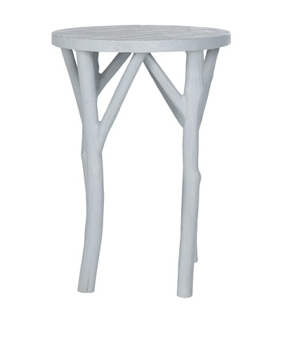 Safavieh Harper Round End Table, Pearl Blue Grey