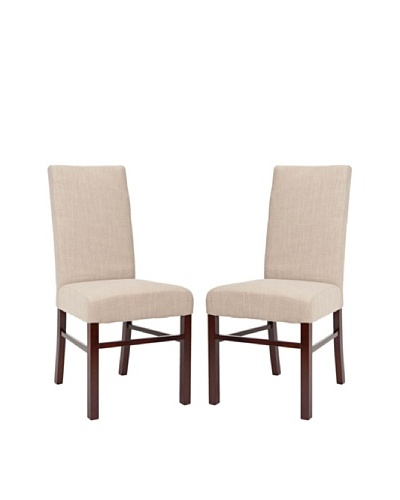 Safavieh Set of 2 Classic Side Chairs, True Taupe