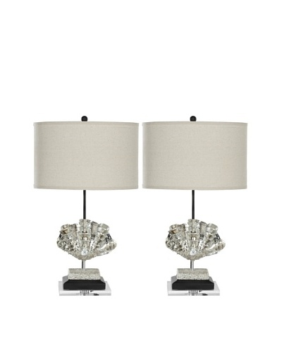 Safavieh Set of 2 Silver Shell Lamps