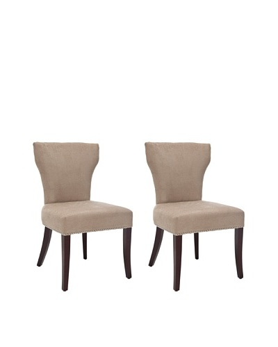 Safavieh Set of 2 Ryan Side Chairs, Wheat