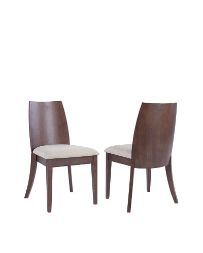 Set of 2 Jed Side Chairs, Beige