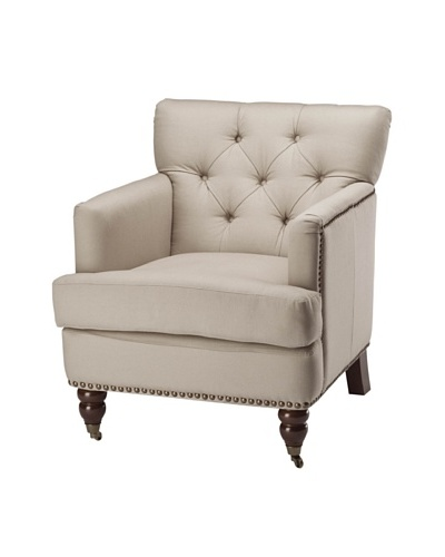 Safavieh Colin Tufted Club Chair, Ecru