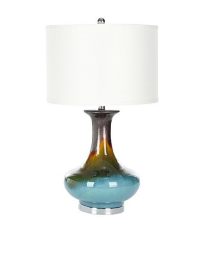 Safavieh Georgia Table Lamp, Silver/Blue