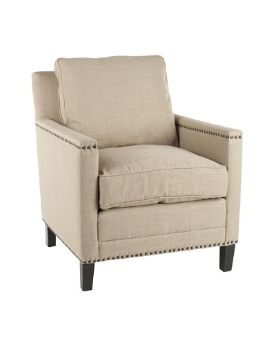 Safavieh Buckler Arm Chair, Straw/Espresso