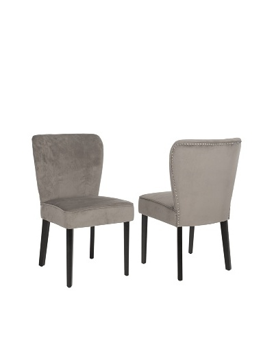 Set of 2 Clifford Side Chairs, Mushroom Taupe