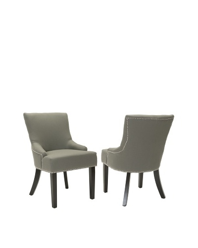 Safavieh Set of 2 Lotus Side Chairs, Sea Mist