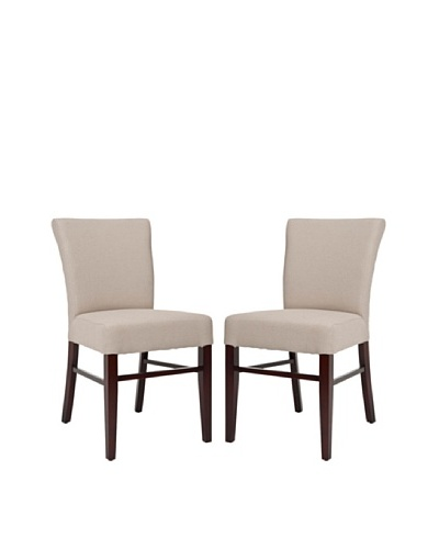 Safavieh Set of 2 Teagon Side Chairs, Taupe