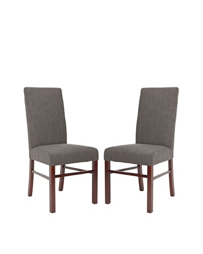 Safavieh Set of 2 Classic Side Chairs, Charcoal Brown