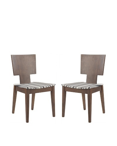 Safavieh Set of 2 Rick Side Chairs, Stripe