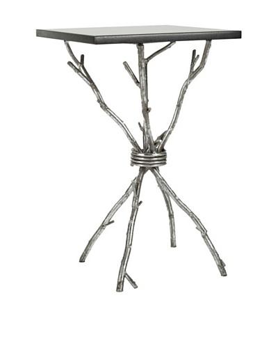 Safavieh Alexa Accent Table, Black/Silver Legs