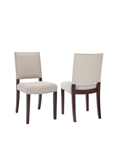 Set of 2 James Side Chairs, Taupe