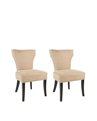 Safavieh Mercer Collection Carter Wheat Polyester Dining Chair, Set of 2