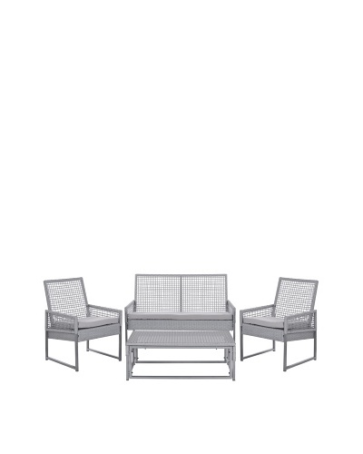 Safavieh Shawmont 4-Piece Outdoor Set [Grey]
