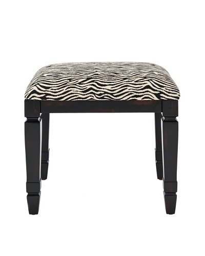 Safavieh Gertie Small Bench, Black/Zebra