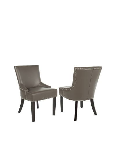 Safavieh Set of 2 Lotus Side Chairs, Clay