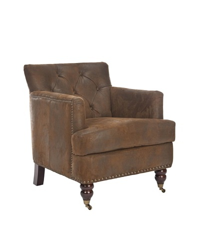 Safavieh Colin Tufted Club Chair, Brown
